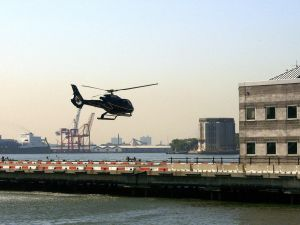 A helicopter takes off from the Downtown Manhattan Heliport. (Photo: Mandel Ngan for Getty Images)