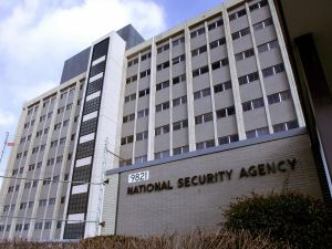 Fort Meade, UNITED STATES: (FILES): This 25 January 2006 file photo shows the National Security Agency (NSA) in the Washington suburb of Fort Meade, Maryland, where US President George W. Bush delivered a speech behind closed doors and met with employees in advance of Senate hearings on the much-criticized domestic surveillance. The US National Security Agency has assembled the world's largest database of telephone records tracking the phone calls of tens of millions of AT and T, Verizon and BellSouth customers, sources familiar with the program told USA Today. In an article published 11 May 2006, the daily said the NSA launched the secret program in 2001, shortly after the 11 September 2001 attacks, to analyze calling patterns in a bid to detect terrorist activity. AFP PHOTO/FILES/Paul J. RICHARDS (Photo credit should read PAUL J. RICHARDS/AFP/Getty Images)