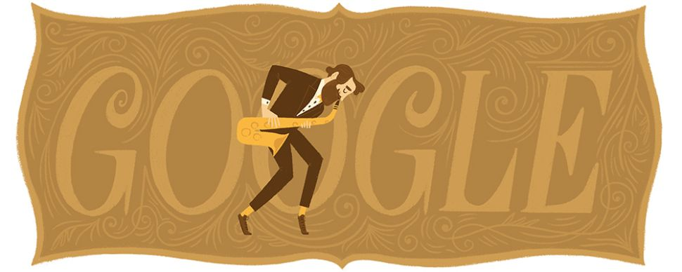 Google Doodle Celebrates Adolphe Sax's 201st Birthday