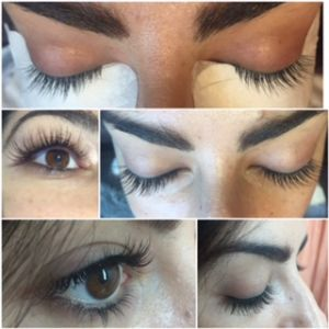 Multiple views of my new lashes (Photo: Hilda Grigorian).