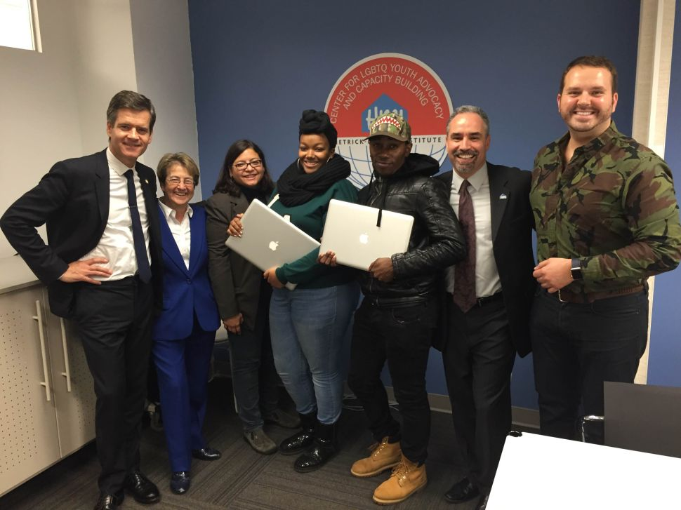 Facebook Donates Laptops to East Village Space for LGBT Youth