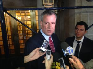 Mayor Bill de Blasio.