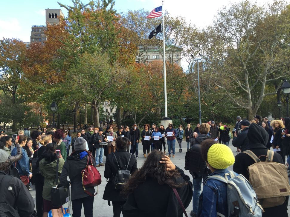 NYC College Students Stand #InSolidarityWithMizzou