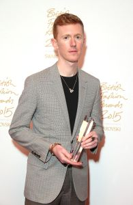 Jordan Askill, winner of Emerging Accessory Designer (Photo: Mike Marsland, British Fashion Council)