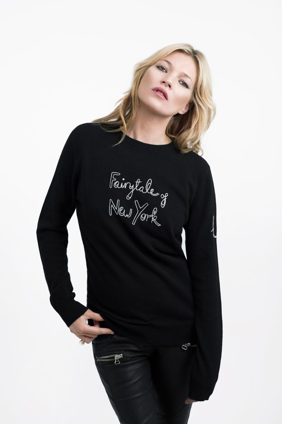 Kate Moss Models This Season's Most Charitable Christmas Sweater