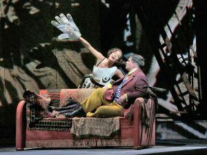 Marlis Petersen and Daniel Brenna in Berg's Lulu. (Photo by Ken Howard/Metropolitan Opera)