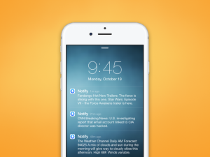 Notify, the new notification app from Facebook, was released on Wednesday. (Image courtesy of Facebook)