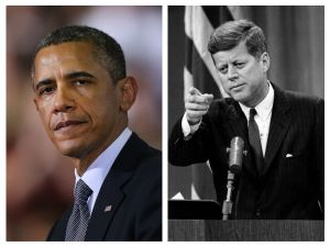 Barack Obama / John F Kennedy (Photo: Spencer Platt/Getty Images) (Photo: Keystone/Getty Images)