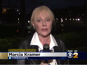 "Marcia Kramer is ""Demanding Answers."" (Screengrab: CBS 2 News)"