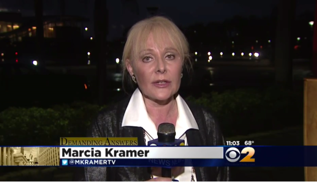 "Marcia Kramer is ""Demanding Answers."" (Screengrab: CBS 2 News)"