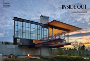 A feature on a Kundig design in Massachusetts (Photo: Courtesy Wallpaper*).