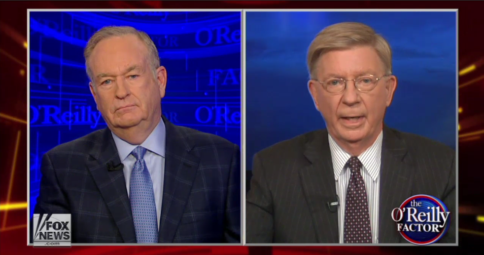 Bill O'Reilly and George Will Snarl It Out on Fox News