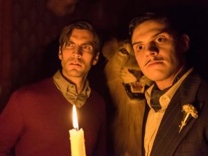 The two best stares in the biz: Wes Bentley and Evan Peters in American Horror Story: Hotel. (FX)