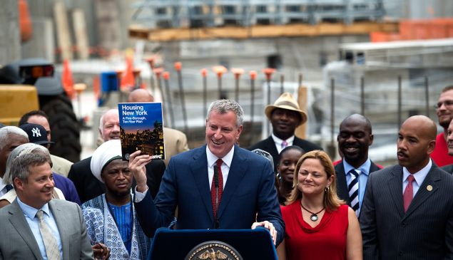 Mayor Bill de Blasio and his allies.