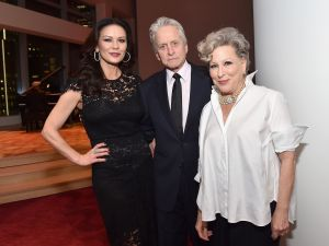Catherine Zeta-Jones, Michael Douglas, Bette Midler (Photo by Mike Coppola/Getty Images for Jazz at Lincoln Center).