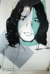 Andy Warhol, Mick Jagger (1975)