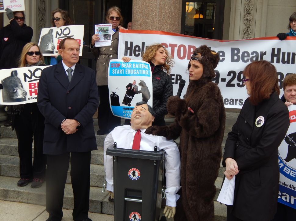 Protesters Hit the Statehouse Steps Prior to NJ Bear Hunt