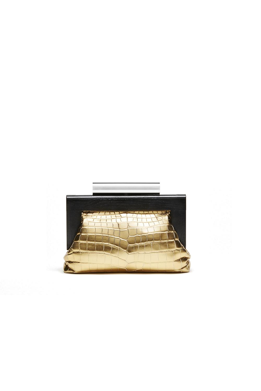 Devi Kroell Beluga in Metallic Crocodile Gold, $11,000, DeviKroell.com (Photo: Courtesy Devi Kroell).