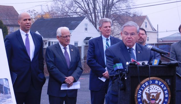 From left: Booker, Pascrell, Pallone and Menendez.