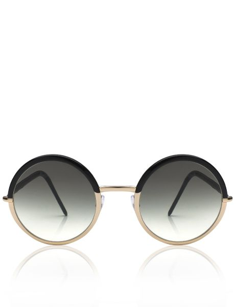 Cutler and Gross Two Tone Round Gradient Sunglasses, $640, Avenue32.com (Photo: Courtesy Avenue32).