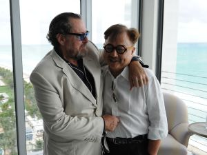 Julian Schnabel and Michael Chow (Photo by Andrew Toth/Getty Images for Soho Beach House)