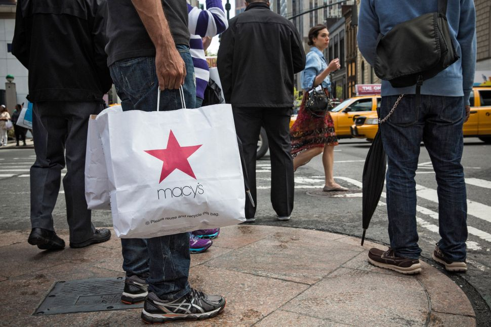 Afternoon Bulletin: Macy's Sued for Detaining Minority Customers, Issuing False Fines
