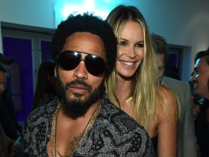 Lenny Kravitz and Elle Macpherson. (Photo by Dimitrios Kambouris/Getty Images for Chrome Hearts)