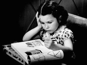 Girl with coloring book, 1950s. (Photo: George Marks/Retrofile/Getty Images)