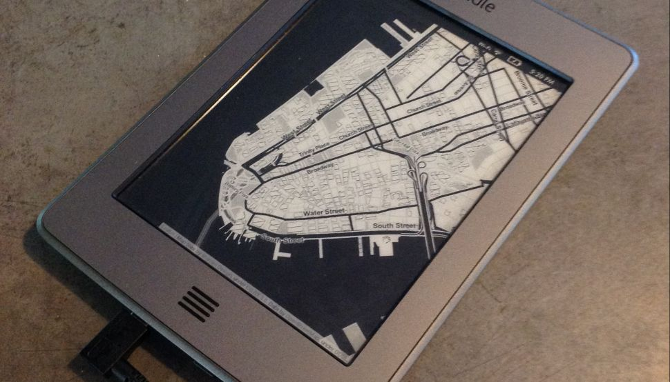 Hacking Maps Onto the Kindle Is Only the Beginning