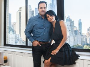 Chris Del and Veronica Webb in the living room (Photo: Emily Assiran for Observer).