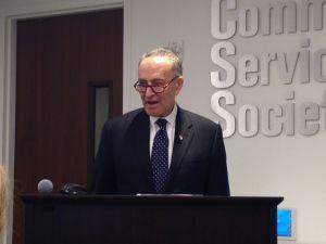 Sen. Charles Schumer today (Photo: Will Bredderman for Observer).
