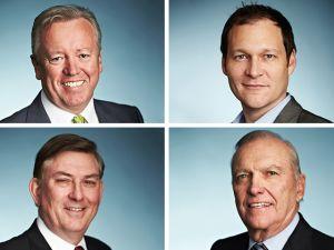 John Graham, chairman; John Saunders, president and CEO; Jack Modzelewski, president the Americas; J.J. Carter, president East Region