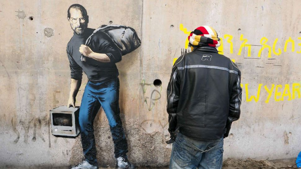 Banksy Surprises UK School With Mural, Tourist Elbows a Warhol