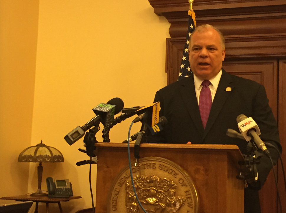 Laying Pension Blame on Christie, Sweeney Defends Constitutional Amendment