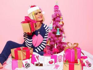 Betsey Johnson had a pretty in pink Christmas (Photo: Instagram).