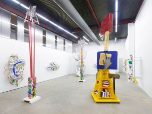 """Installation view of Agathe Snow's exhibition, """"Continuum,"""" at The Journal Gallery. (Photo: Courtesy of The Journal Gallery)"""