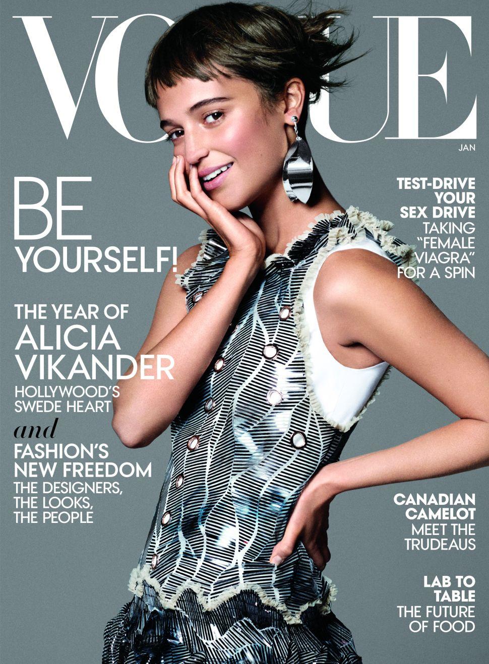 Rising Star Alicia Vikander Lands Vogue's January Cover