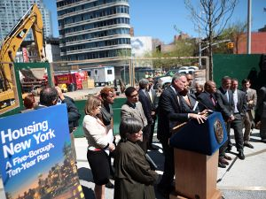 Mayor Bill de Blasio unveiling his affordable housing plan. (Photo: Ed Reed for Office of Mayor Bill de Blasio)