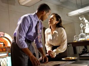 "MARVEL'S AGENT CARTER - ""Better Angels"" - Peggy's search for the truth about Zero Matter puts her on a collision course with her superiors as Howard Stark barnstorms in, on ""Marvel's Agent Carter,"" TUESDAY, JANUARY 26 (9:00-10:00 p.m. EST) on the ABC Television Network. (ABC/Kelsey McNeal) REGGIE AUSTIN, HAYLEY ATWELL"