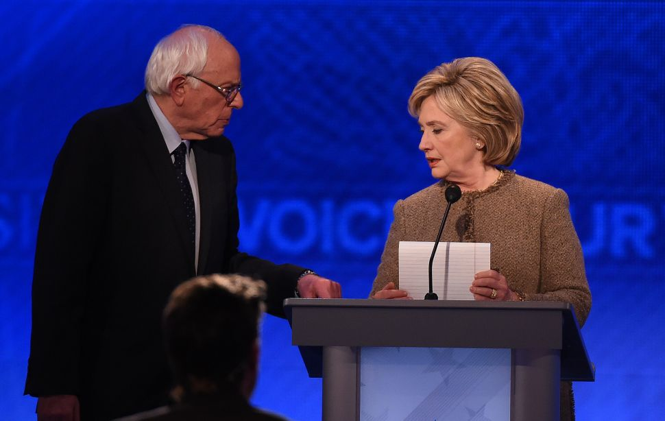 Hillary Clinton's Battle With Bernie Sanders Shifts From Gun Control to Healthcare