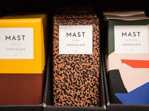NEW YORK, NY - DECEMBER 21: Mast Brothers chocolate sits for sale in a store on December 21, 2015 in New York City. The chocolate company has recently been accused of using industrial chocolate in their chocolate bars when the company was first started, contradicting their bean-to-bar claims. (Photo by Andrew Burton/Getty Images)