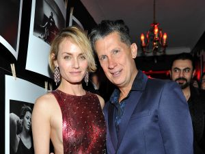 Actress Amber Valletta (L) and W Magazine Editor in Chief Stefano Tonchi (R)(Photo: Donato Sardella/Getty Images for W Magazine)