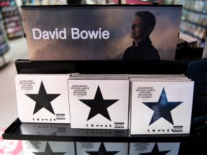 Copies of Blackstar, the last album by British musician David Bowie. (Photo: Justin Tallis/AFP/Getty Images)
