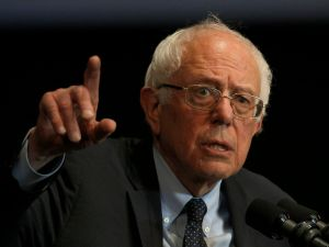 BIRMINGHAM, AL - JANUARY 18: Democratic presidential candidate Sen. Bernie Sanders (I-VT) speaks at Boutwell Auditorium, January 18, 2016 in Birmingham, Alabama. Sanders spoke to a capacity crowd of around 5,000 supporters. (Photo by Hal Yeager/Getty Images)