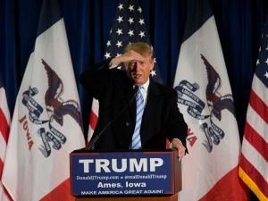 Donald Trump speaking in Iowa. (Photo: Aaron P. Bernstein/Getty Images)
