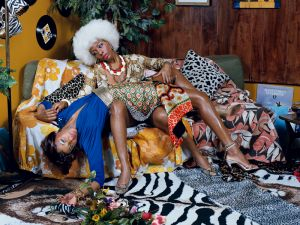 Mickalene Thomas, Le leçon d'amour, 2008 © Mickalene Thomas. (Courtesy the artist and Lehmann Maupin, New York and Hong Kong; and Artists Rights Society (ARS), New York)