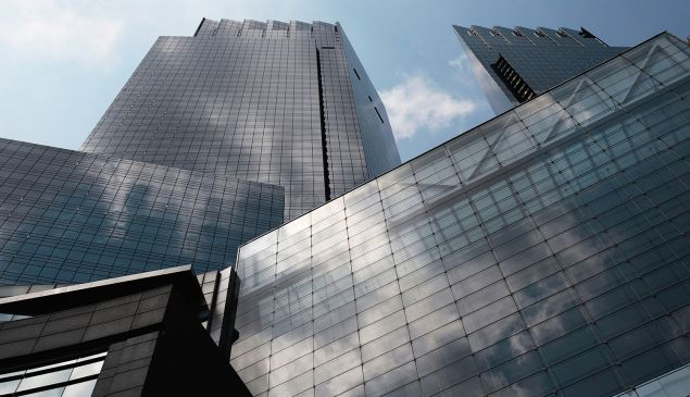 Some LLCs used to purchase condos in the Time Warner Center were allegedly using illegal funds. (Photo by Chris Hondros/Getty Images)