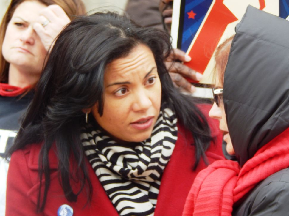 WATCH: Mejia Savages Christie in Front of the Statehouse (VIDEO)