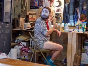"BASKETS -- ""Renoir"" Episode 101 (Airs Thursday, January 21, 10:00 pm/ep) Pictured: Zach Galifianakis as Baskets. CR: Ben Cohen/FX"