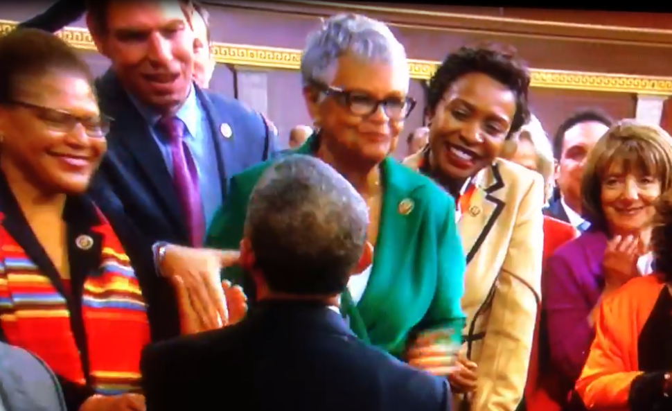 WATCH: Watson Coleman and Obama Kiss at State of the Union